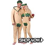 Adam and Eve Couple Costumes via Trendy Halloween