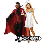 Angel and Devil Couple Costumes via Trendy Halloween