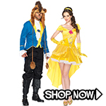 Beauty & the Beast Couple Costumes via Trendy Halloween