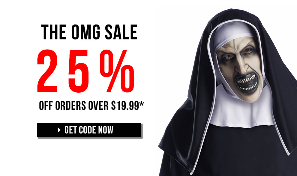 OMG 25% off sale 2018 TrendyHalloween.com