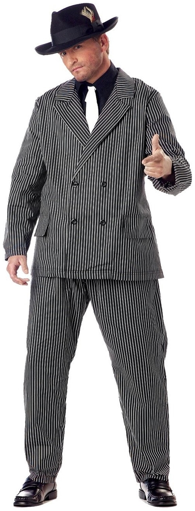 Roarin 20's Gangster Adult Mens Plus Size Costume