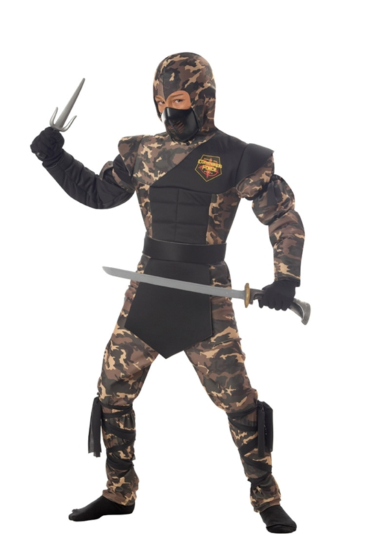 Camouflage Special Ops Ninja Child Costume (Camouflage Special Ops Ninja Child Costume)