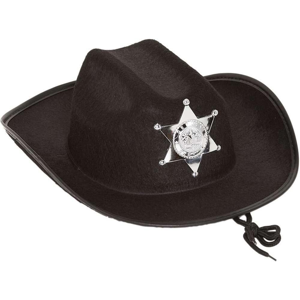 Black Sheriff Cowboy Child Hat