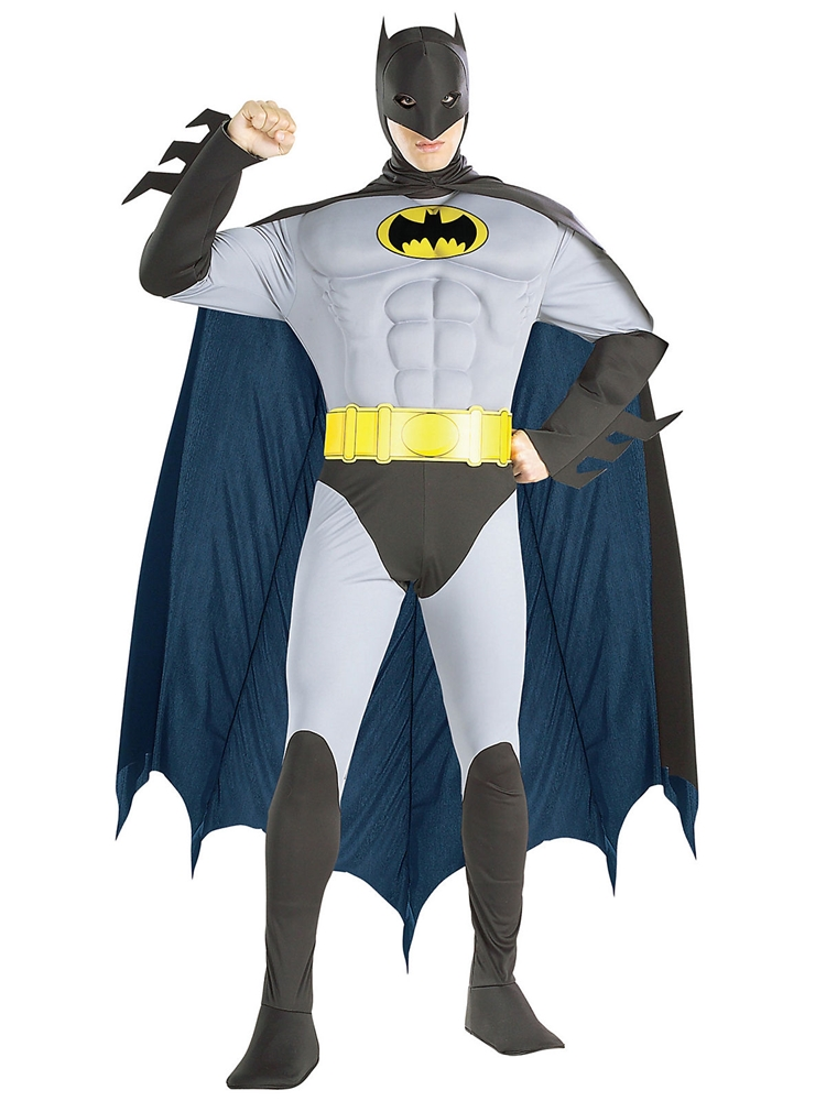 [Batman Classic Muscle Chest Adult Mens Costume] (Classic Batman Costumes)