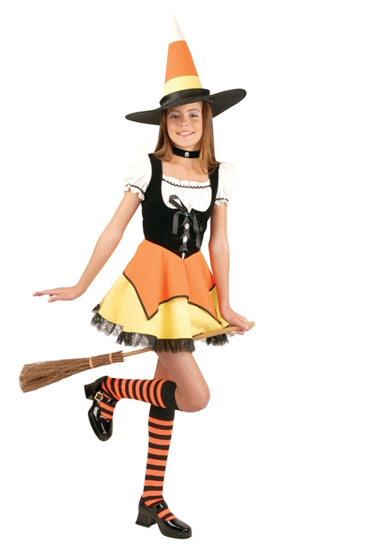 Candy Corn Witch Child Costume