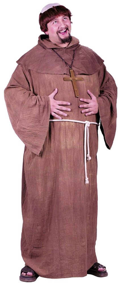 Medieval Monk Plus Size Adult Mens Costume (Plus Size Medieval Costumes)