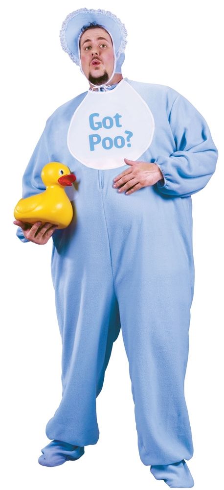 Blue Baby Jammies Plus Size Adult Mens Costume