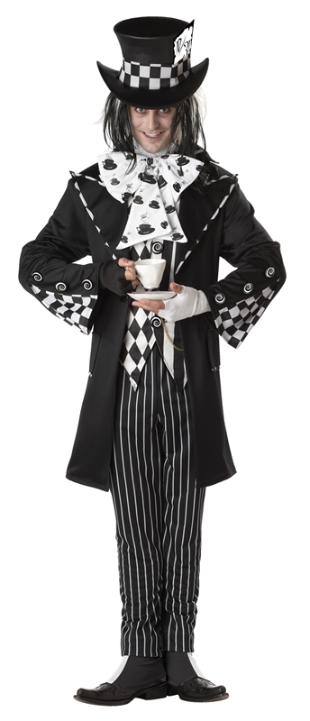 Dark Mad Hatter Adult Mens Costume (Men Mad Hatter Costume)
