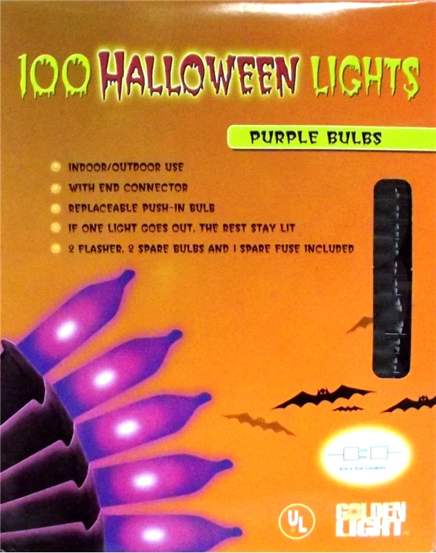 Image of 100 Purple Halloween Lights