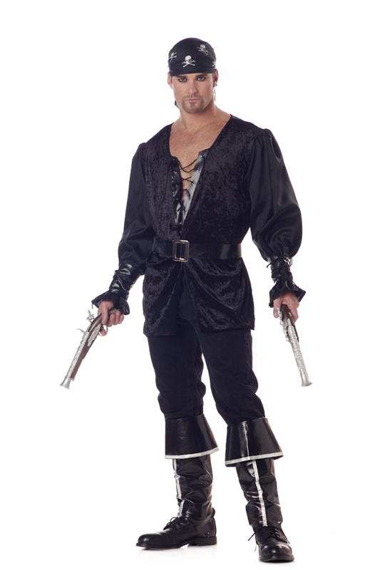 Pirate Blackheart Plus Size Adult Mens Costume