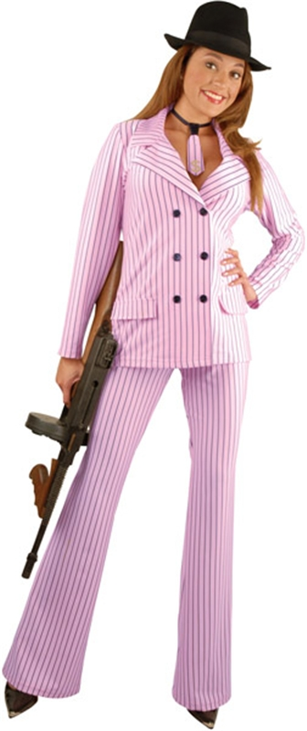 Gangster Moll Pink Adult Suit