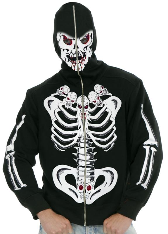 Mens skeleton hoodie