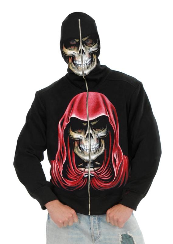 Image of Evil Empire Reaper Black Zip-Up Hoodie Costume