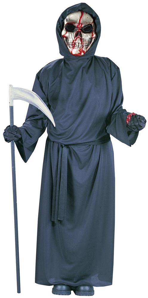 Bleeding Skull Grim Reaper Child Costume
