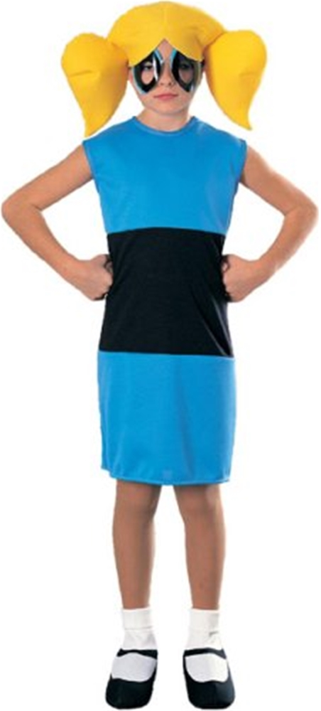 Powerpuff School Girl Blue Dress Child Costume