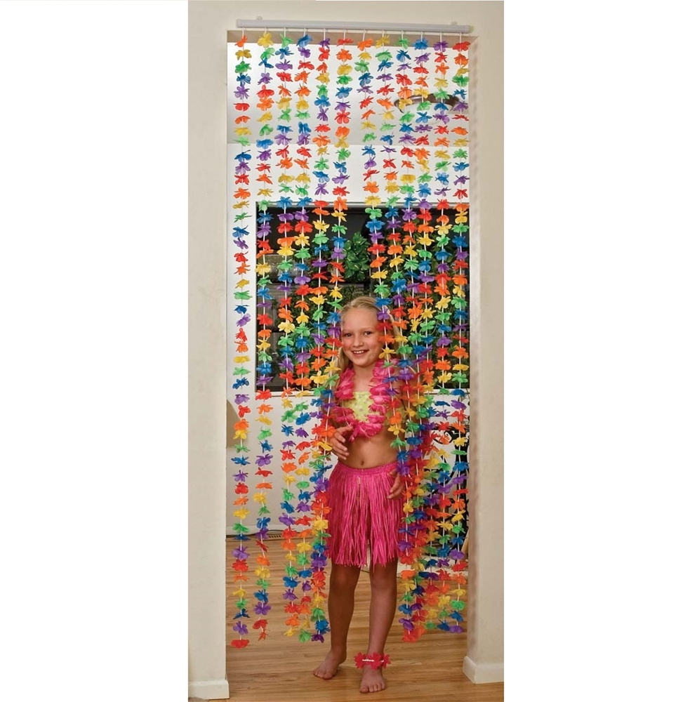 Hawaiian Flower Party Curtain