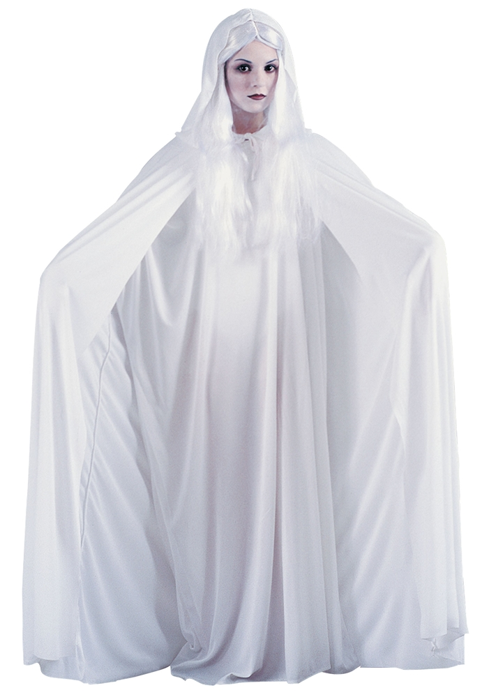 White Hooded Adult Cape by Fun World