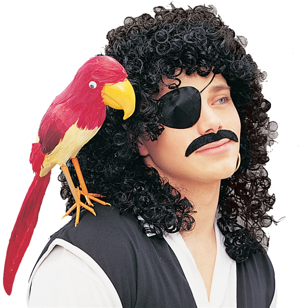 Black Curly Pirate Adult Wig
