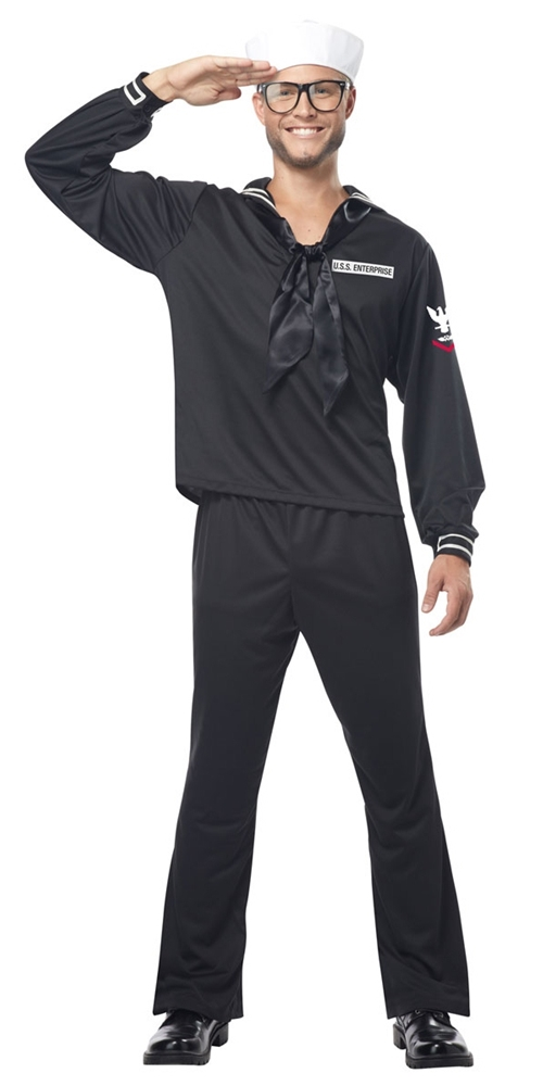 Retro Navy Sailor Adult Mens Costume (Navy Sailor Costume)