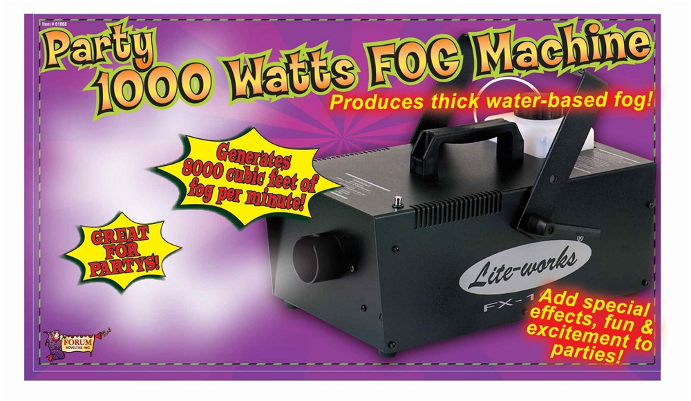 Party Fog Machine 1000W with Remote