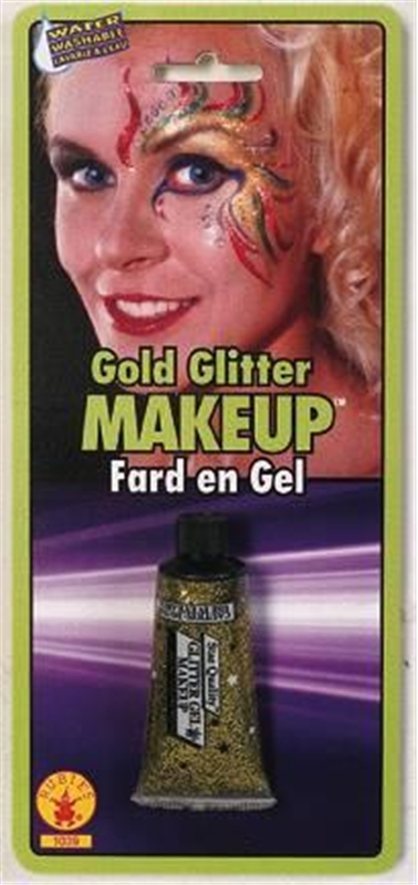 Gold Glitter Gel Makeup by Rubies