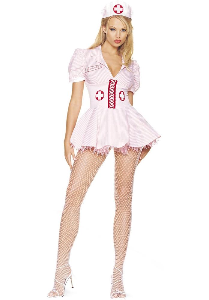 Bath Betty Candy Striper Adult Womens Costume