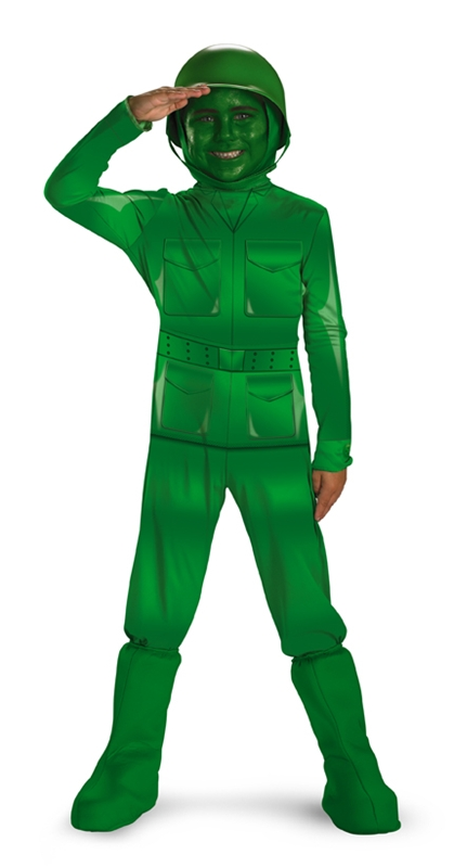 Green Army Man Deluxe Child Costume (Child Green Army Man Costume)