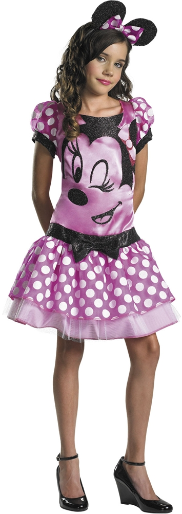 Clubhouse Minnie Mouse Pink Child Girls Costume by Disguise
