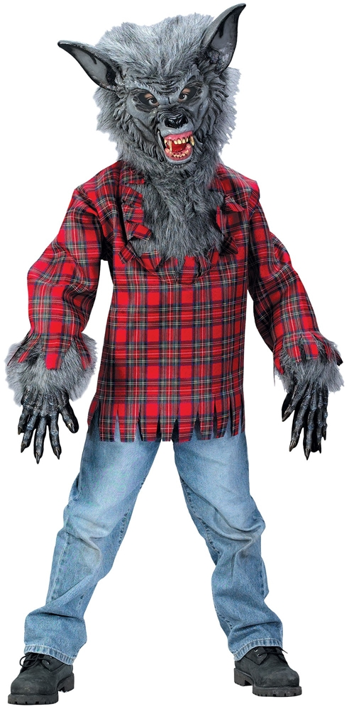Grey Werewolf Child Costume
