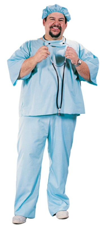 Doctor Plus Size Adult Mens Costume