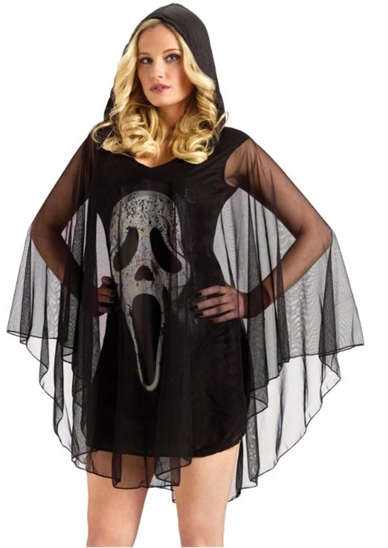 Scream Ghost Face Sexy Poncho Adult Costume