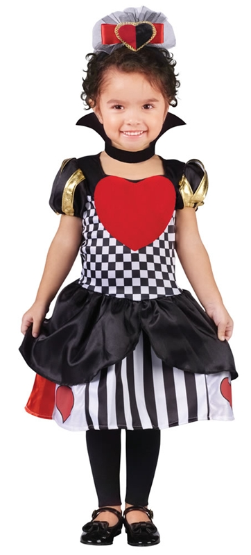 Deluxe Queen of Hearts Toddler Costume by Fun World