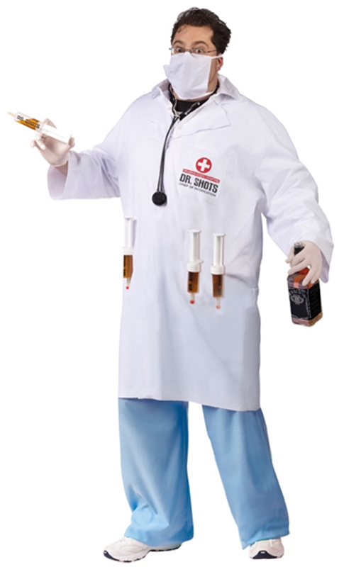 Dr. Shots Plus Size Adult Mens Costume