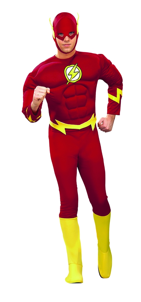 The Flash Deluxe Muscle Chest Adult Mens Costume