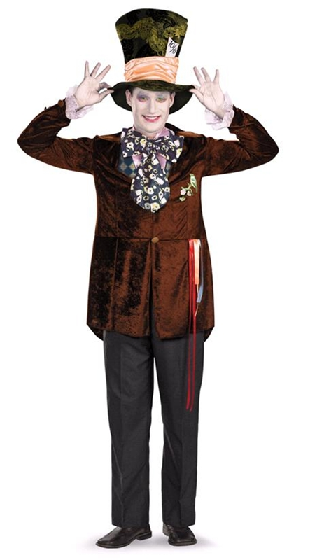 Mad Hatter Movie Deluxe Adult Mens Costume by Disguise