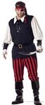 Cutthroat Pirate Adult Mens Plus Size Costume