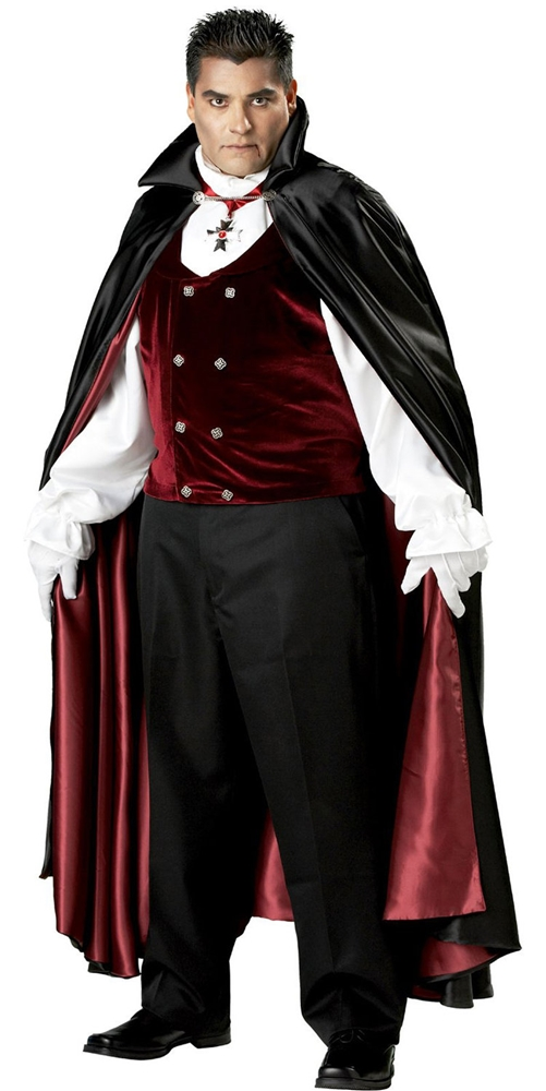 Gothic Vampire Plus Size Adult Mens Costume by Incharacter