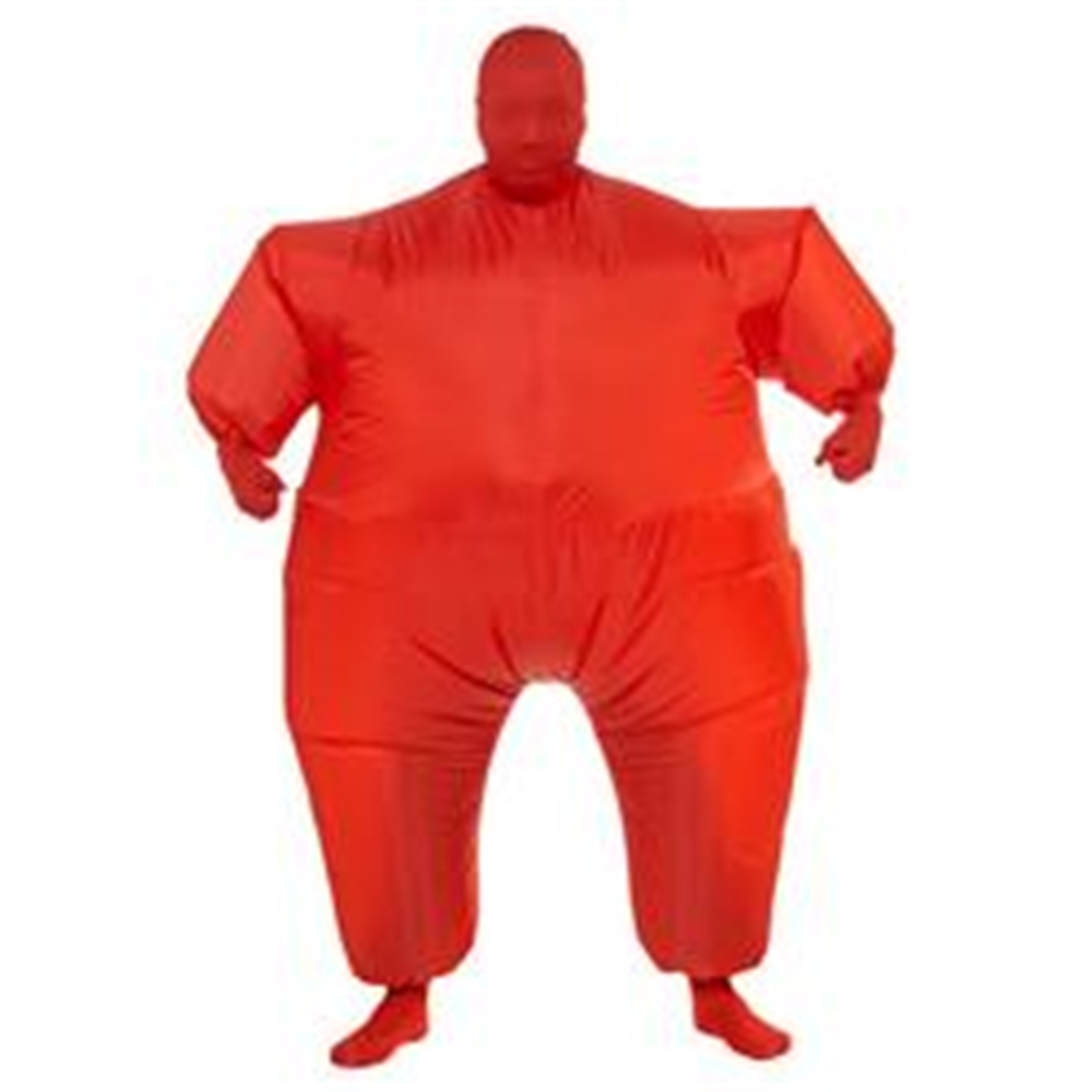 [Red Inflatable Jumpsuit Adult Unisex Costume] (Red Jumpsuit Costume)