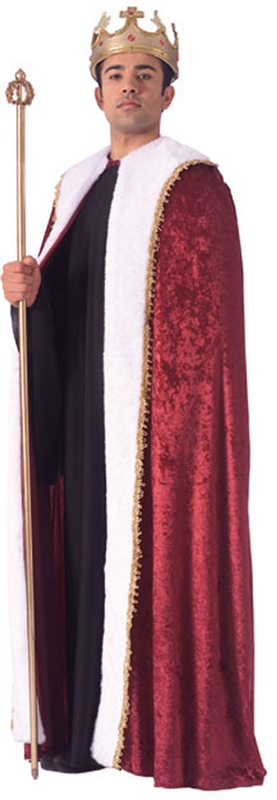 Burgundy Velvet King's Robe
