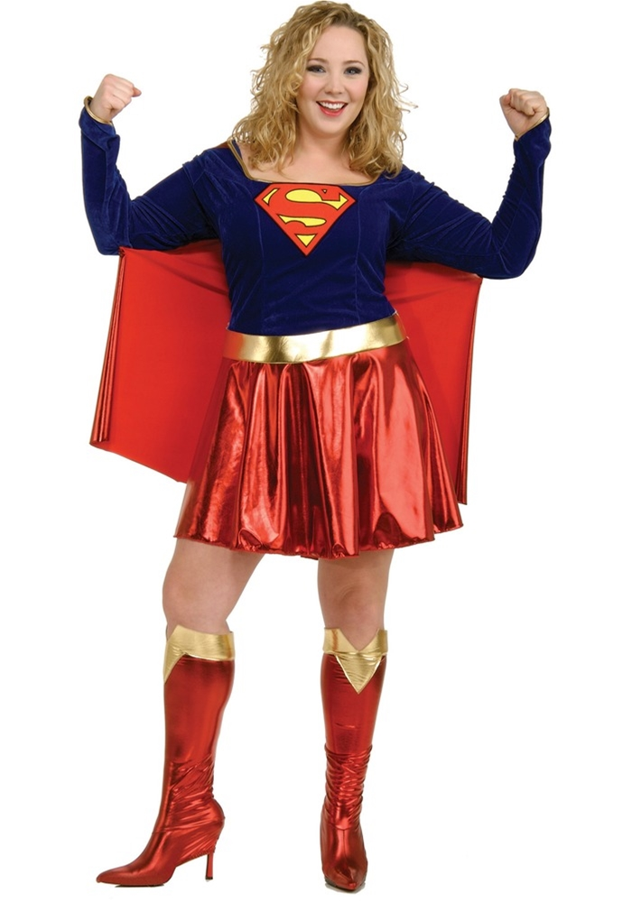 Supergirl Adult Womens Plus Size Costume