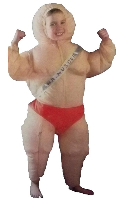 Image of Inflatable Muscle Man Child Costume