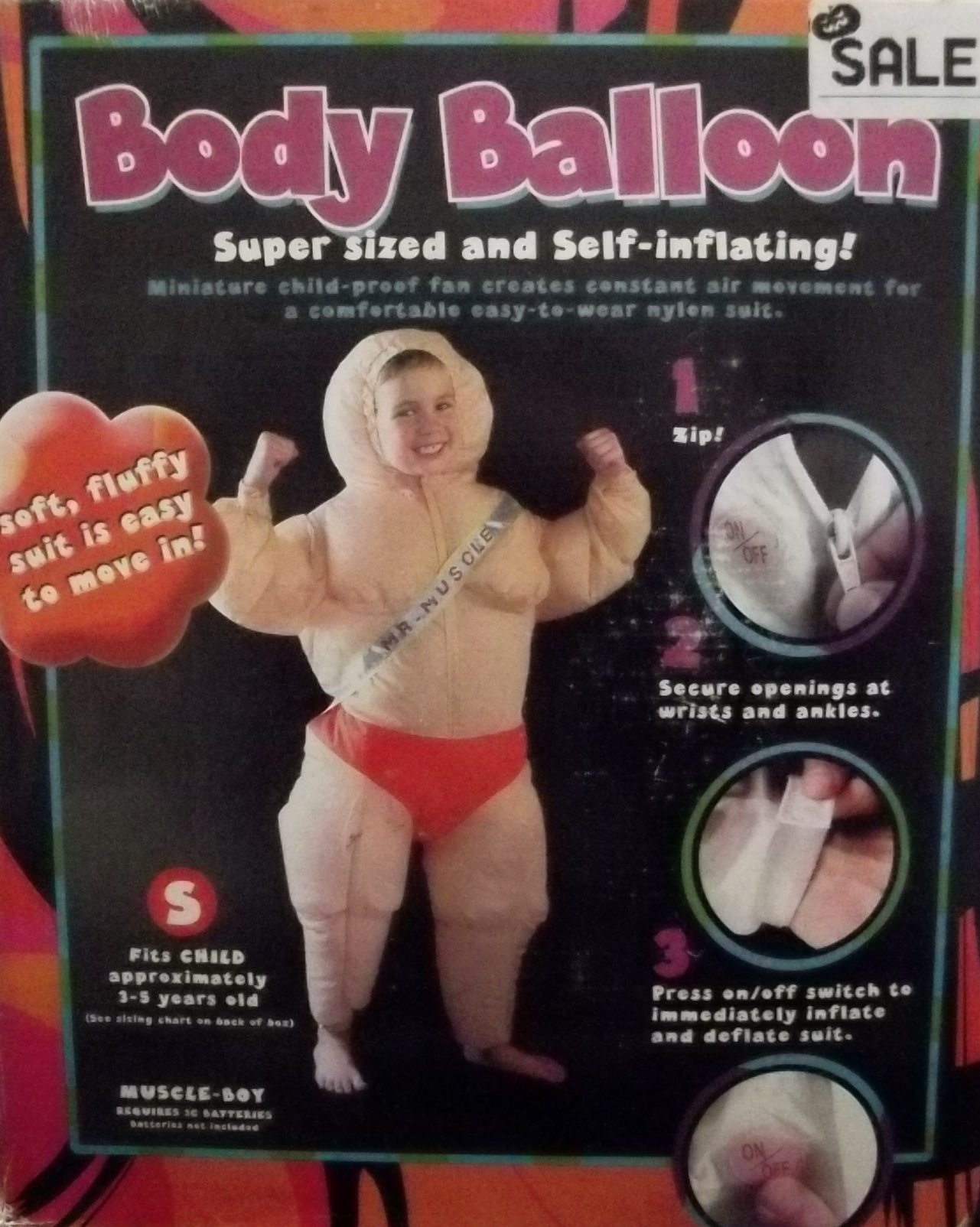 Inflatable Muscle Man Child Costume 089349
