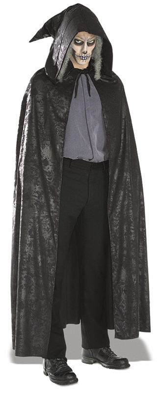 Black Suede Cape Costume