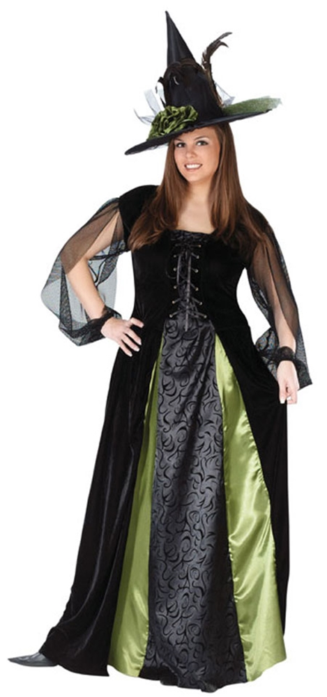 Goth Maiden Witch Adult Womens Plus Size Costume