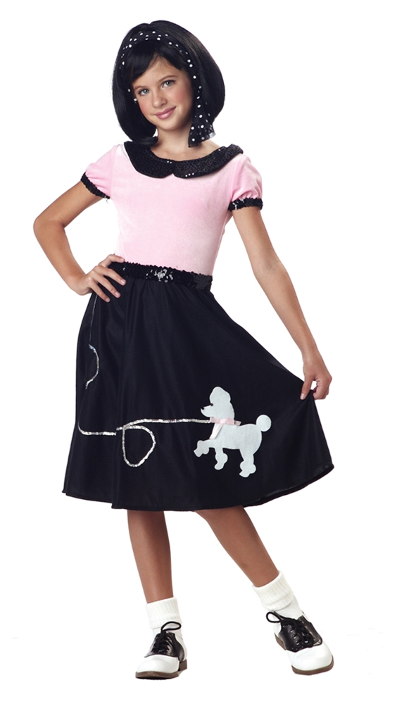 50s Hop with Poodle Skirt Child Costume