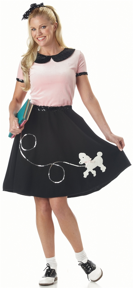 50s Poodle Skirt Adult Womens Costume