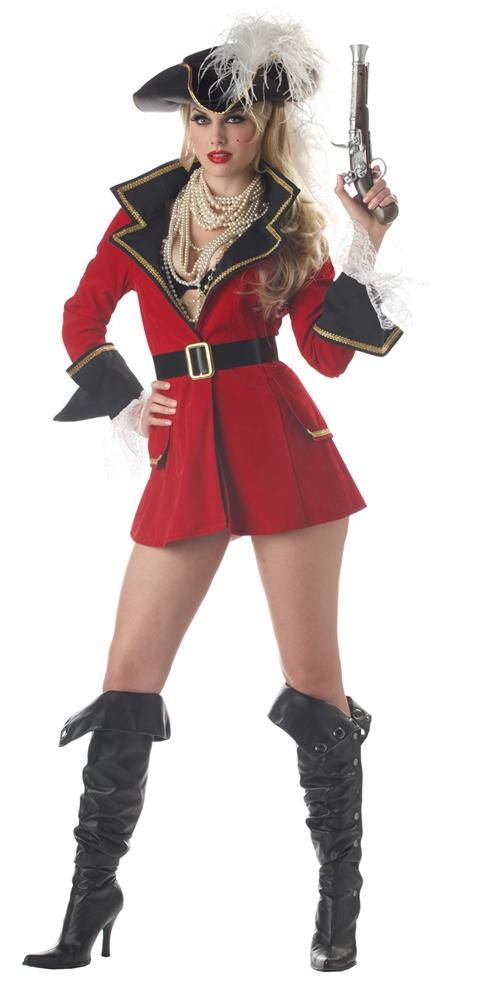 Pirate Captain's Treasure Adult Womens Costume