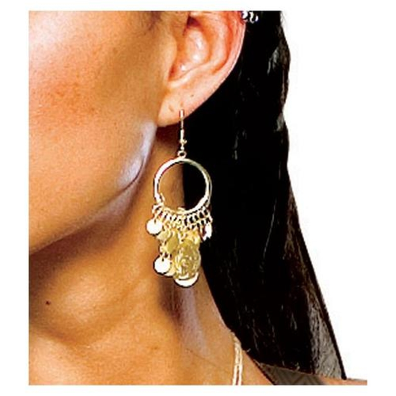 300 Spartan Queen Coin Earrings