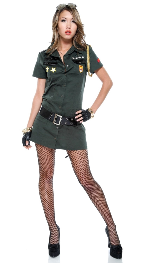 Army Seductress Adult Womens Costume