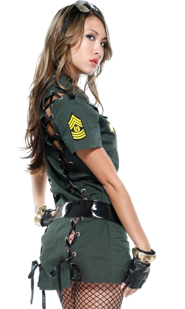 Army Seductress Adult Womens Costume 166955